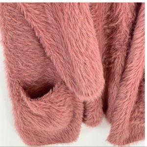 FREE PEOPLE Faux Fur BOYFRIEND Cardigan Sweater